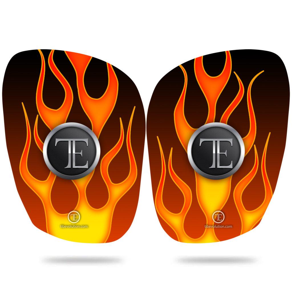 protege-tibia flamme fibre de verre
