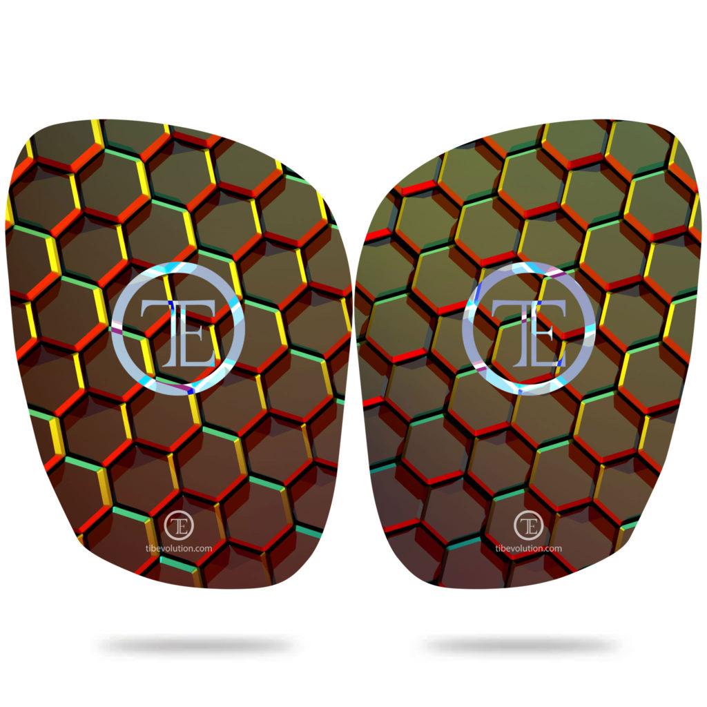 Protege-tibia Hexa force 2 fibre de verre