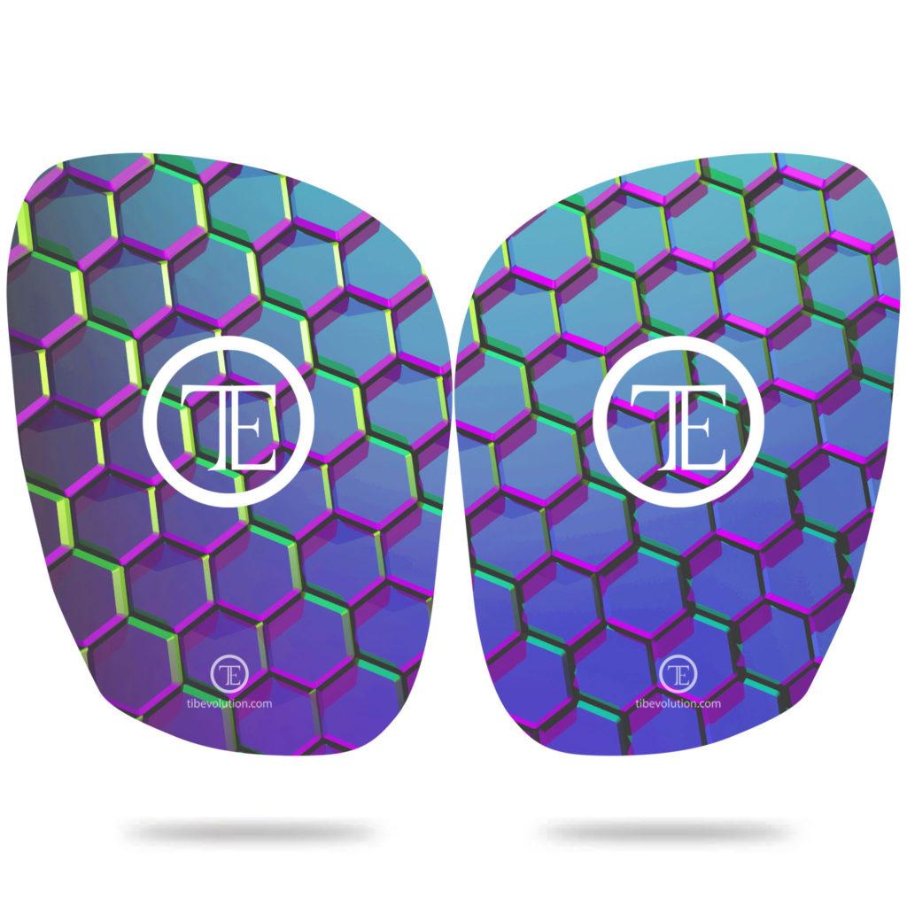 Protege-tibia Hexa force two 3 fibre de verre
