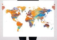 Carte du monde Tibevolution